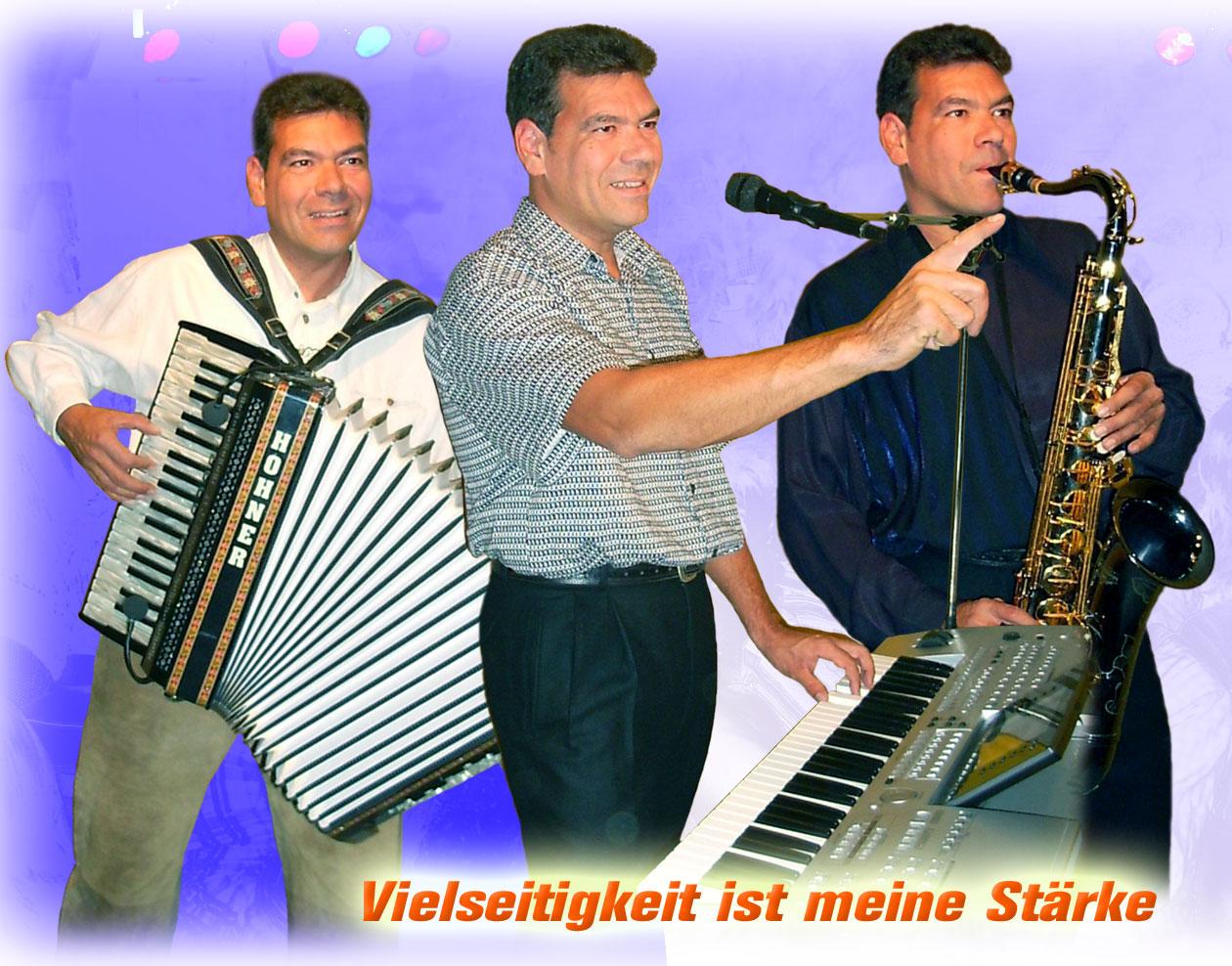Autogrammkarte Alleinunterhalter Hubert-live