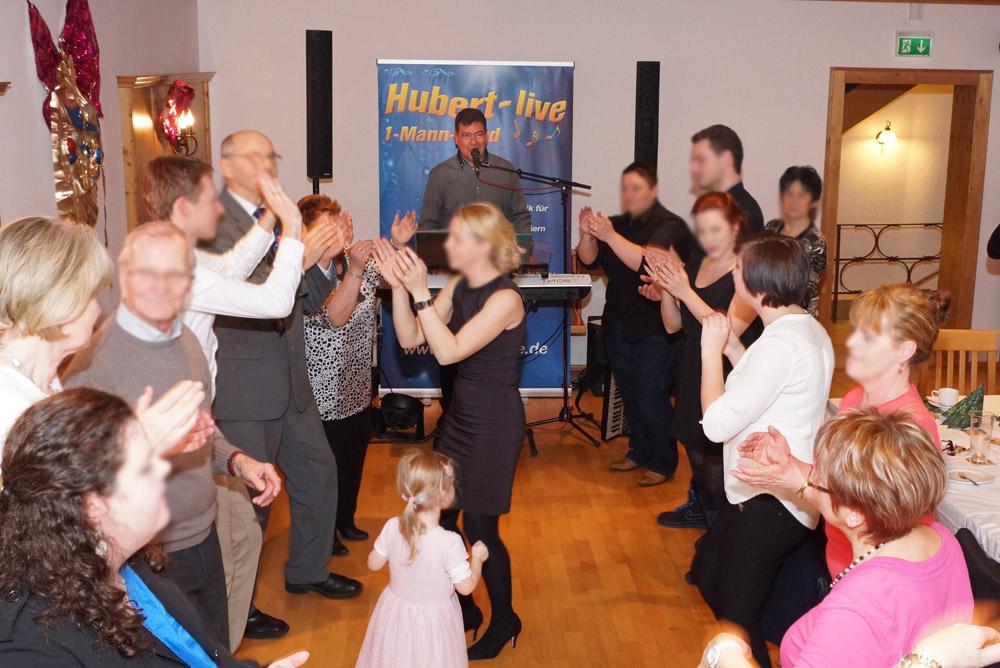 Geburtstagsparty Partyband Hubert-live Bayern