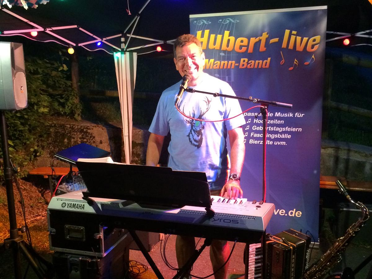 Gartenparty Partyband Hubert-live Bayern