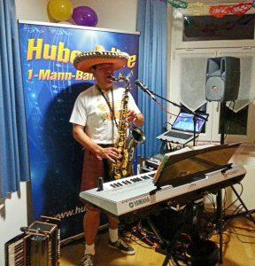 1-Mann-Band Hubert-live mit Saxophon
