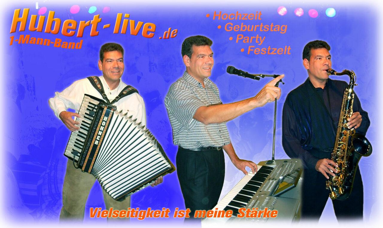 Hubert-live - Autogrammkarte 1650x1000