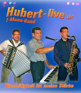 Alleinunterhalter Hubert-live Autogrammkarte