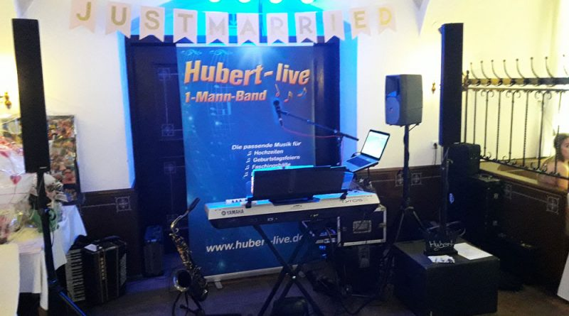 Alleinunterhalter Hochzeitsband DJ Hubert-live
